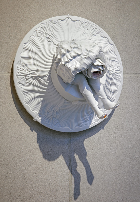 Dancing Girl With Two Right Feet , 2012. Glazed Meissen Porcelain and gold. 10.625 x 6.625 inches.   Photo: Michael Bodycomb, copyright The Frick Collection.