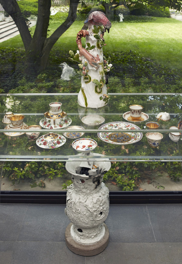 Installation view, Porcelain, No Simple Matter, solo exhibition at The Frick Collection, NY, May 2016 - Apr 2017.  Photo: Michael Bodycomb, copyright The Frick Collection.