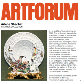 Artforum: Porcelain, No Simple Matter