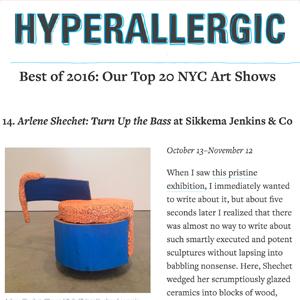 Hyperallergic Best of 2016: Arlene Shechet: Turn Up the Bass