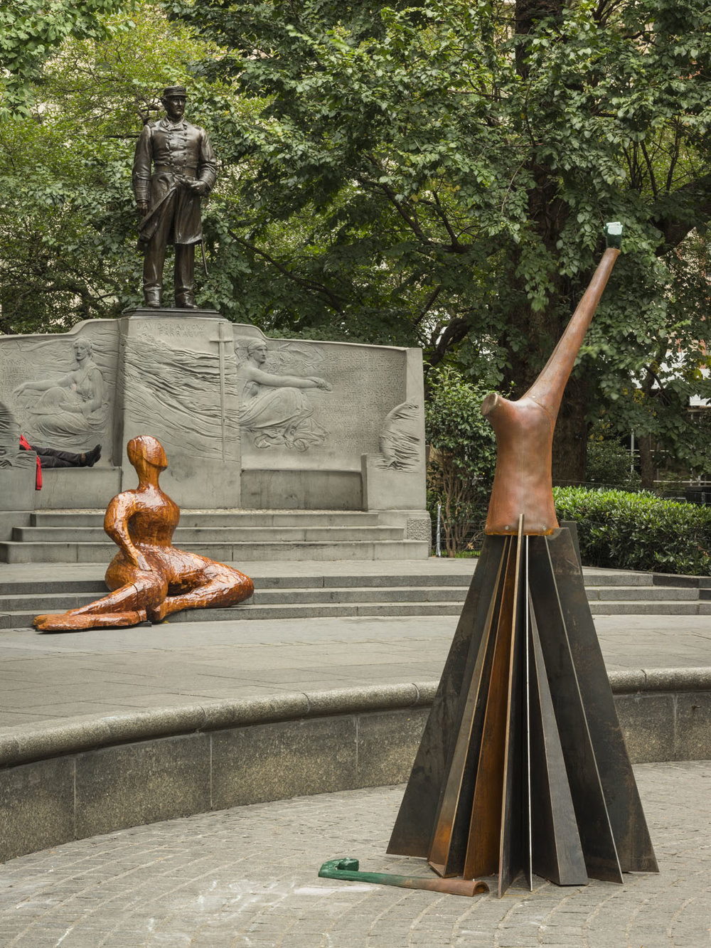 Full Steam Ahead , public installation at Madison Square Park, New York, NY, 2018-19.  Photography by Kris Graves. Courtesy the artist and Pace Gallery.