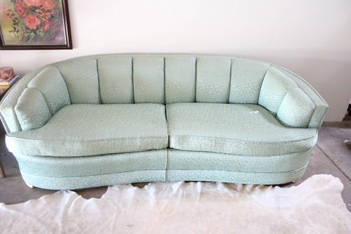 Mid Century Powder Blue Sofa Mm Vintage