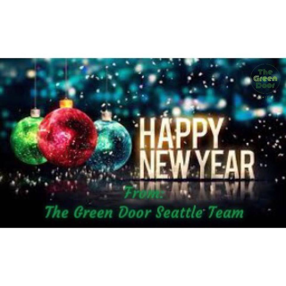 Happy New Year from The Green Door Seattle Team to you.