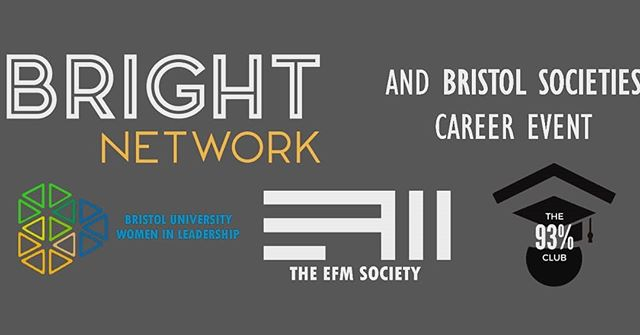THIS THURSDAY: The next big event brought to you by the EFM Society is on Careers in Data Science for Economists. As part of the Bright Network and Bristol Societies careers day, there will be talks from 6:00-7:30pm, 1.18 Queens Building. Come along to find out more about alternative sectors for EFM students. (More info on our Facebook page)
