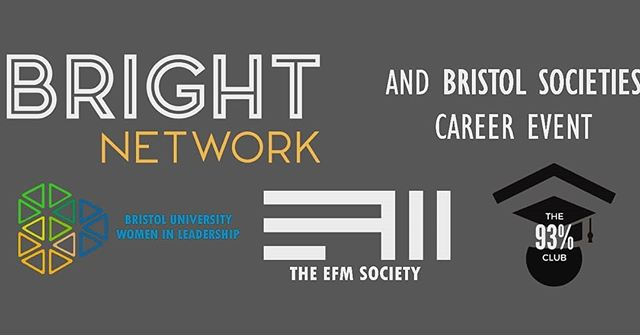 FINAL REMINDER: THIS THURSDAY: Bright Network Careers day! There will a range of  events from 2:30 till 8pm, Queens Building, including a talk on Careers as a Data Scientist and the opportunity to get professional LinkedIn headshots. Sign up and find the full timetable on our Facebook page.
