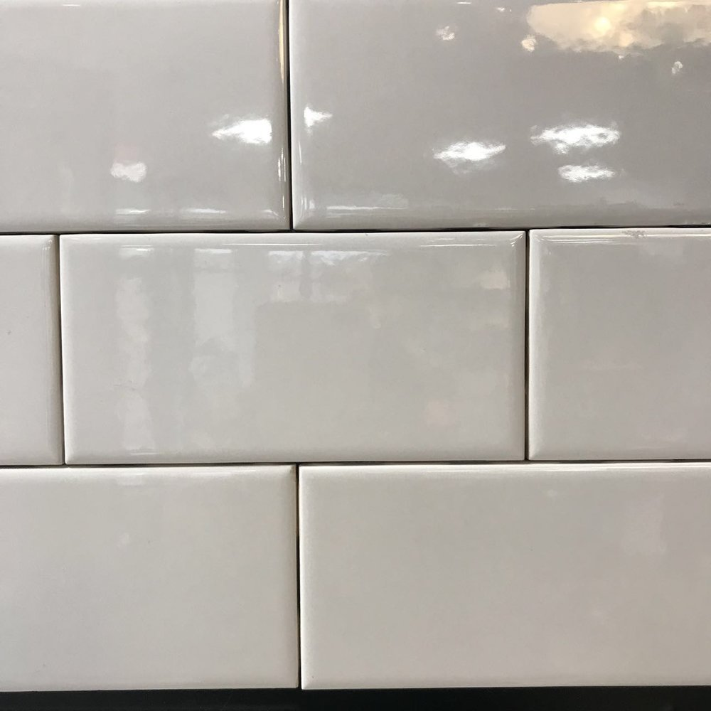 3 X 6 White Glossy Subway Tile Global Flooring Cabinet