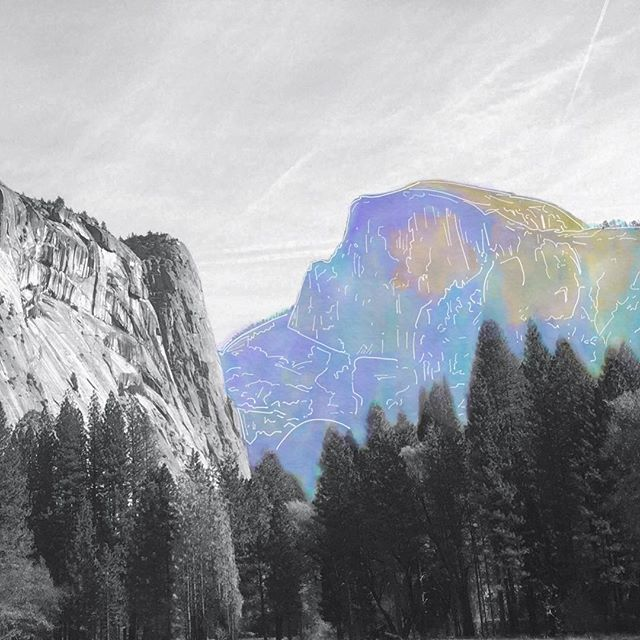 Sometimes our photos get to come alive in a different way. Here, Half Dome rises out of the black and white in full watercolor. . . . . #yosemitenationalpark #halfdome #yosemite #california #norcal #digitalpainting #exploretocreate #optoutside #seetheworld #gameoftones #ig_photooftheday #ig_shotz #explore #usa #nationalparks