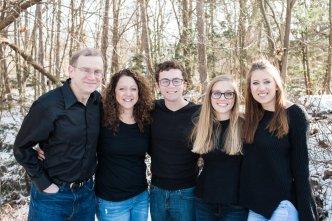 Christine & her family