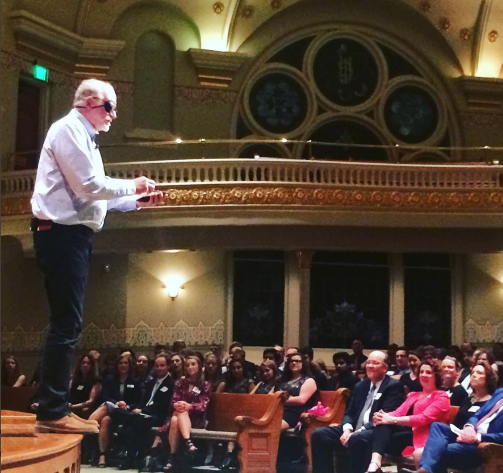 Bob Goff in the Indiana Landmarks Grand Hall