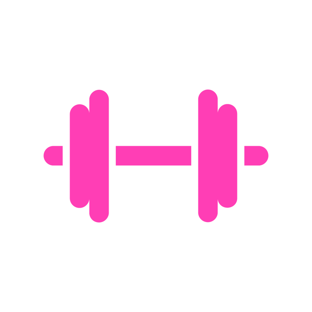 the gym dumbell icon