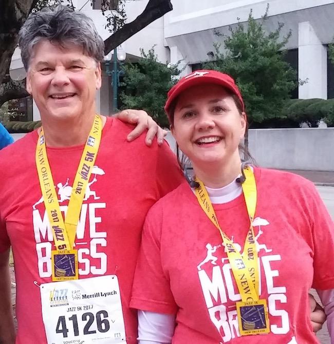 Carey and Edward Brassette at the Children's Hospital Jazz Half Marathon and 5K