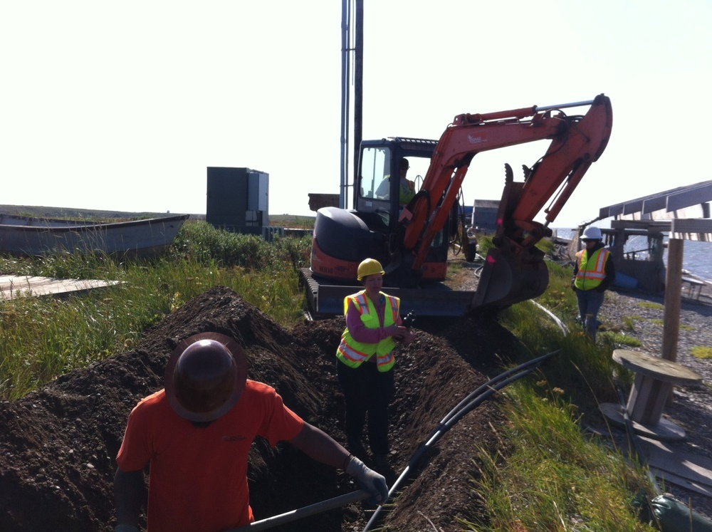 August 6, 2015 - Trenching near complete