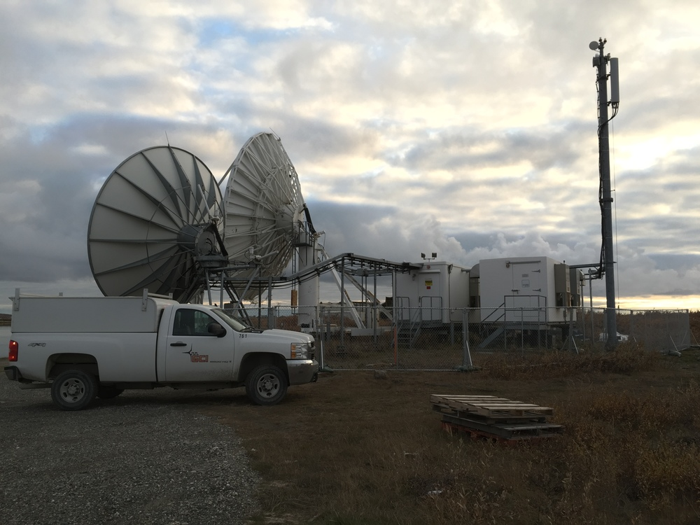 Kotzebue GCI Earth Station connected to the TERRA tower via fiber (Sept 2105)