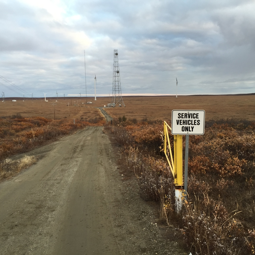 TERRA tower near the Kotzebue Electric Association wind turbines (Sept 2015)
