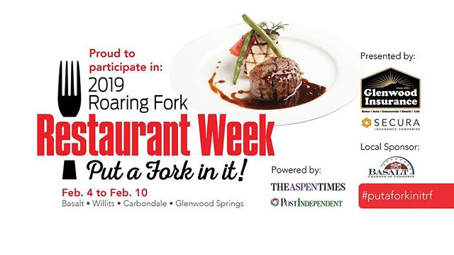 Join us this week for the Roaring Fork Valley's restaurant week starting tomorrow, Monday 2/4. Breakfast & Lunch ask for our special 20.19% off on all Food.  #putaforkinit #crepes #crepeshack #chefmawa #restaurantweek #freshfromscratch #lunchspecial #breakfastspecial #foodandwine #checkusout #basalt #aspen #snowmass