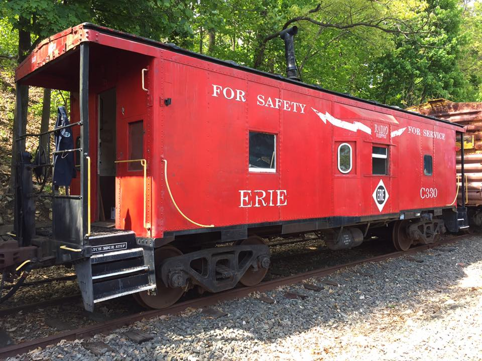 May 12, 2016 photo of No. C330 as it begins its restoration at Boonton Yard. (Kevin Phalon photo)