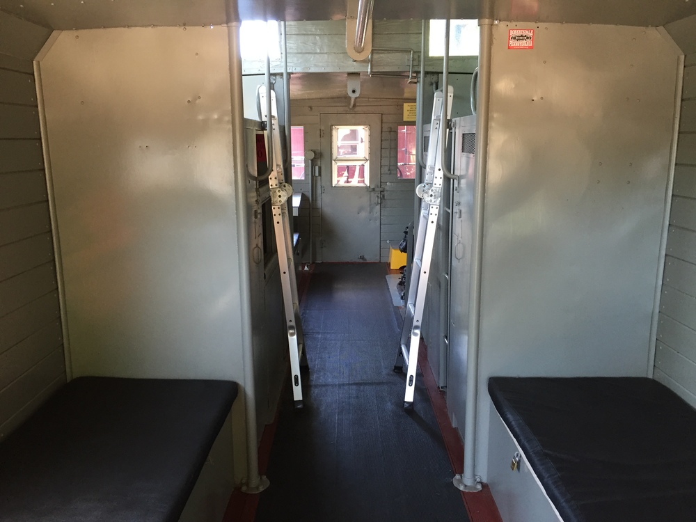 The restored interior of No. 10 on June 12, 2016.  (Rudy Garbely photo)