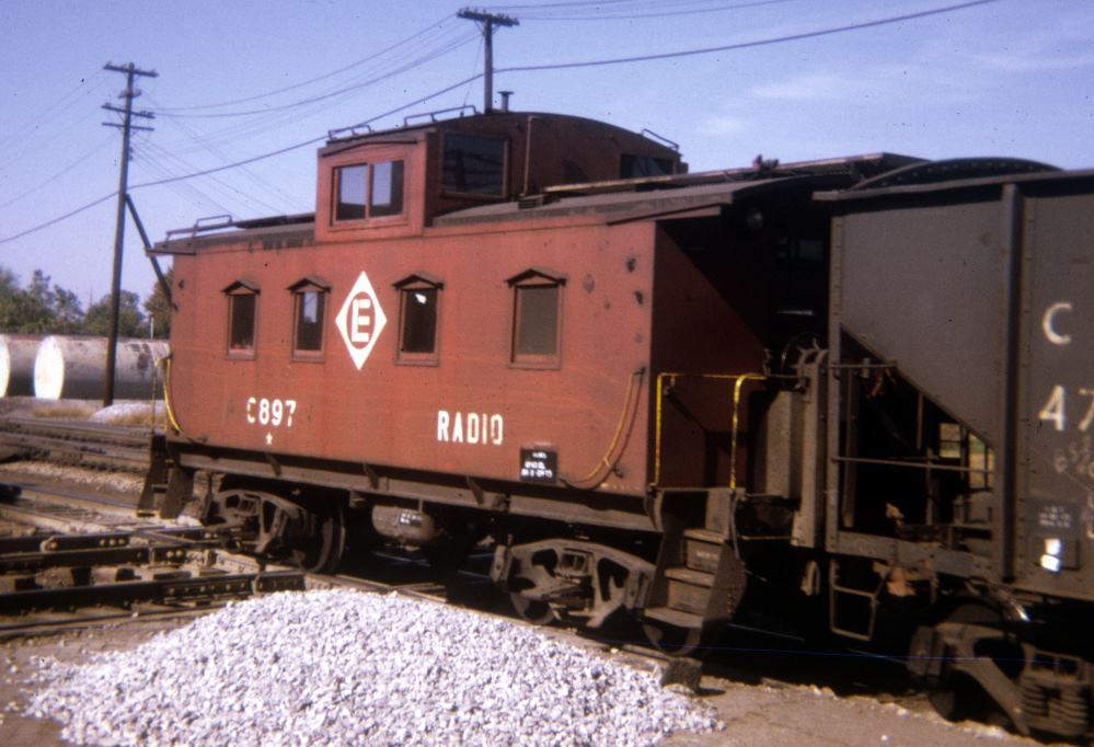 EL sister car No. C897 rolls through Marion, OH in September of 1973. (Gene Dent collection)