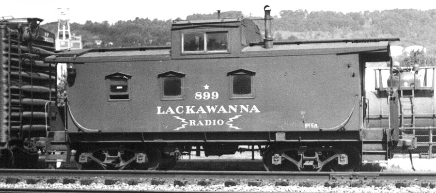DL&W No. 899, sister to our No. 896, is pictured in Binghamton, NY in this 1950s photo.  (Matt Forsyth collection)