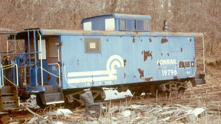 No. 19796 sits in Whippany, NJ in March of 1988, less than two years after Tri-State acquired it from Conrail. (Karl Geffchen photo)