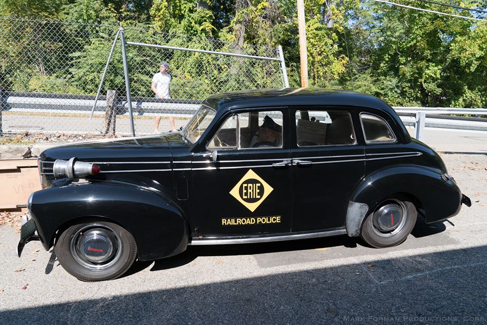 Tri-State member Mark Krisanda brought his Studebaker police car to show off. Photo by Mark Forman
