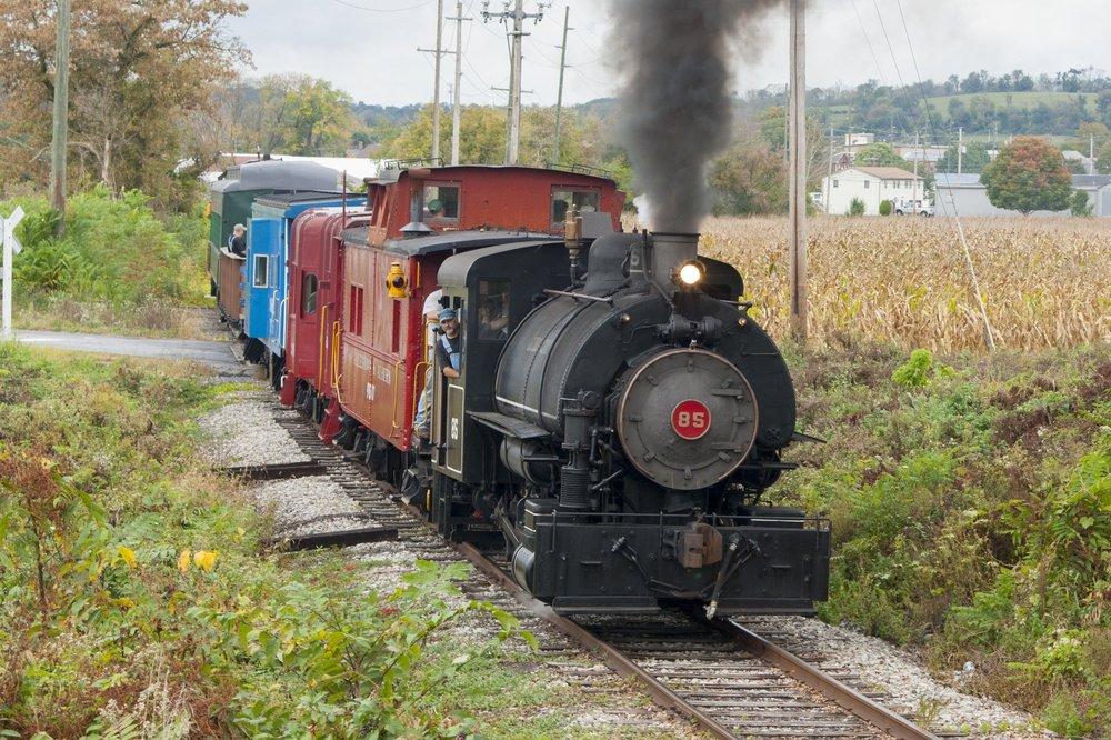 Jeddo Coal No. 85 hauling passengers on the Allentown & Auburn in 2017. Photo by Brandon Bartolotta