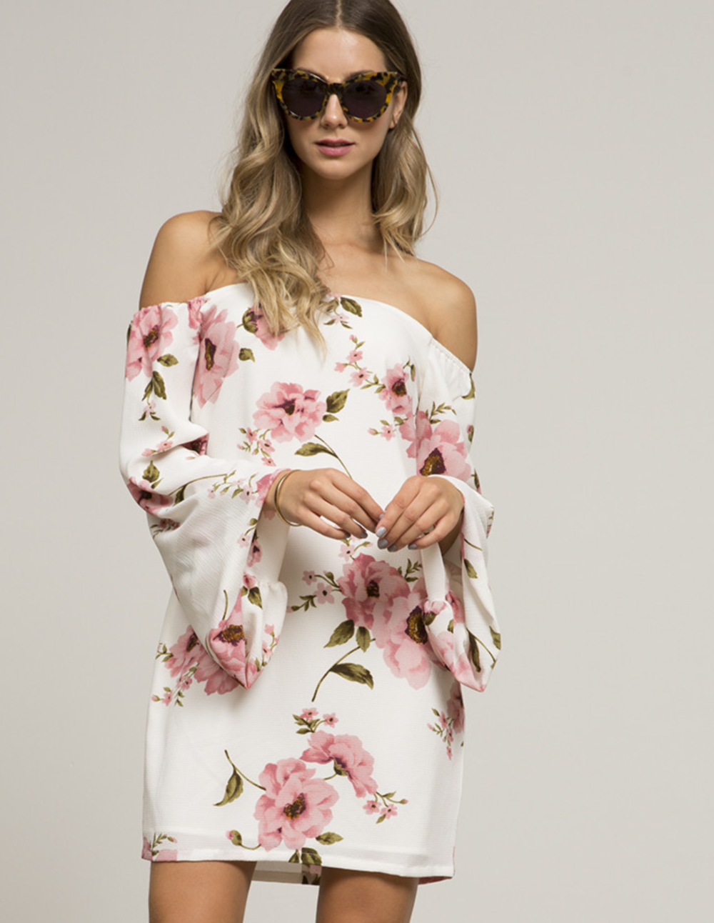 Annette Dusty Rose Off the Shoulder Dress- Click here