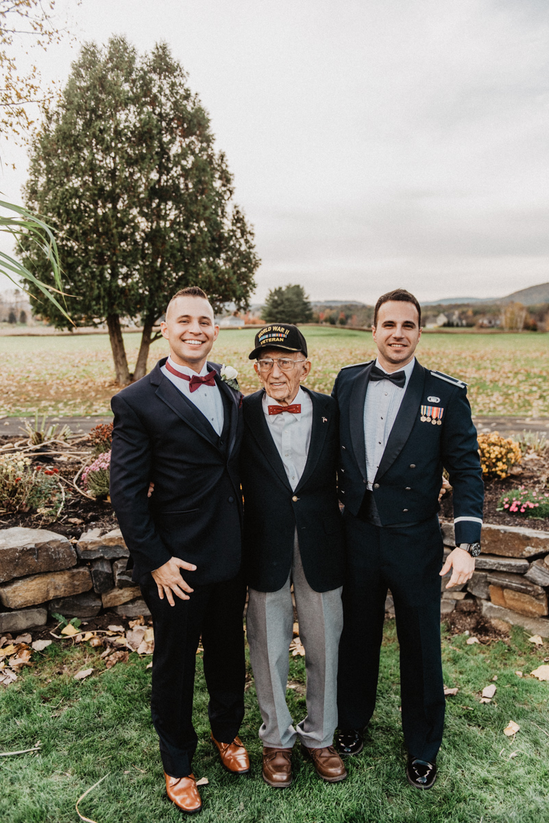 """Ian's Grandfather, """"Grandad""""was THE SWEETEST. 92 Years old and jogging around all day. Everyone is head over heels for him and he was the only grandparent at the wedding. So he's going to keep making some appearances because is he not the cutest thing you've ever seen."""