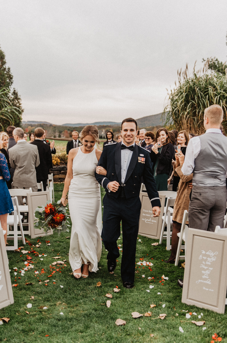 I think these are some of my favorite moments to photograph at a wedding. Recessional/stoked-to-be-married faces are the happiest!
