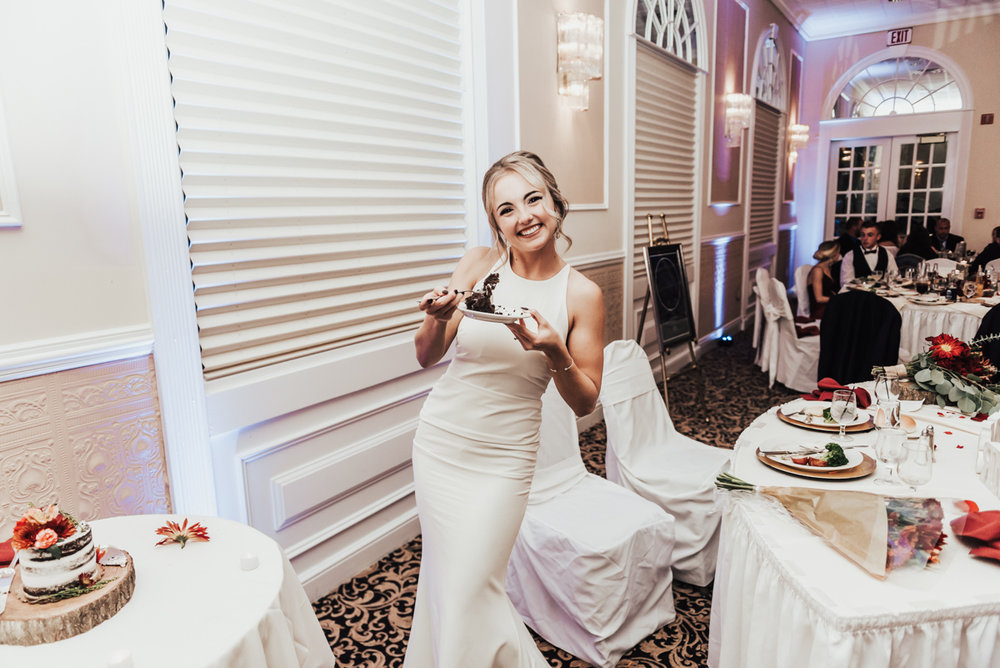 Girl after my own heart!! Take the time to eat cake at your own wedding. You deserve it.