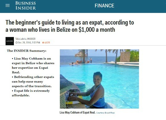 Featured in the Finance section of  The BUSINESS INSIDER . Use these easy steps to live like a boss abroad!