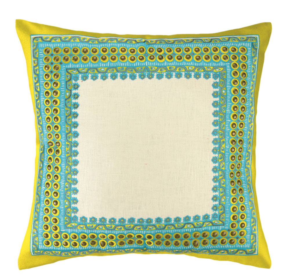 Decorative Pillows Trina Turk : Trina Turk Bedding.Trina Turk Peacock Abstract Drop Embroidered Decorative Pillow 20 By 20inch ...