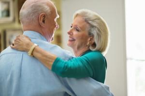 Romantic Senior Couple Dancing