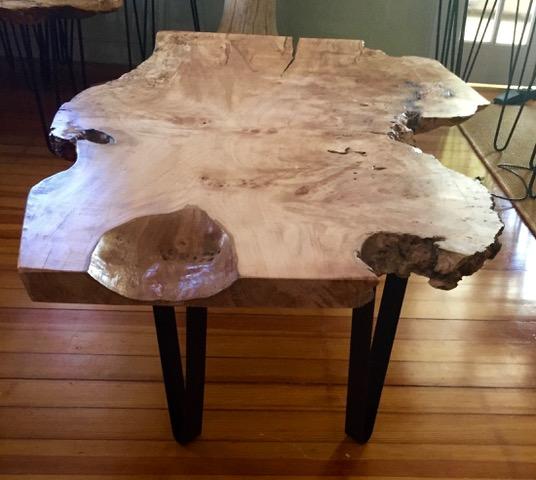 Live Edge Maple Burl Coffee Table 2 Beach And Barn Furniture