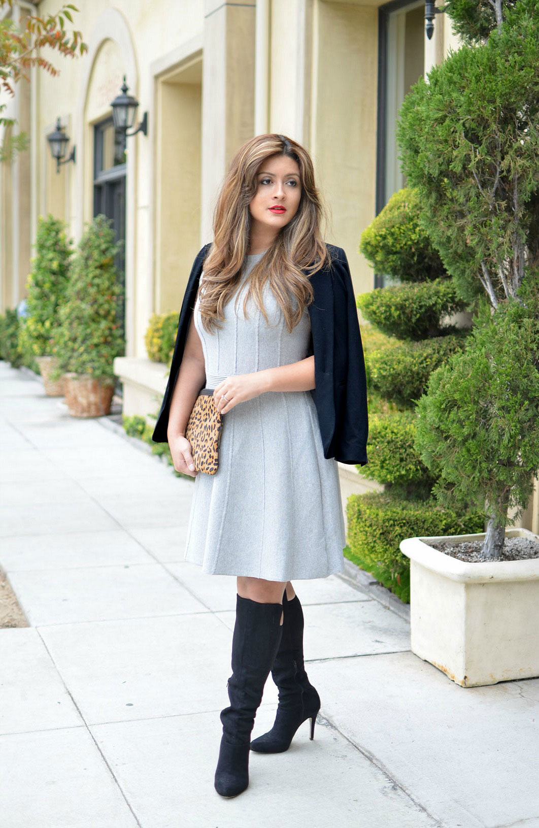 ann taylor grey dress - theartmuse