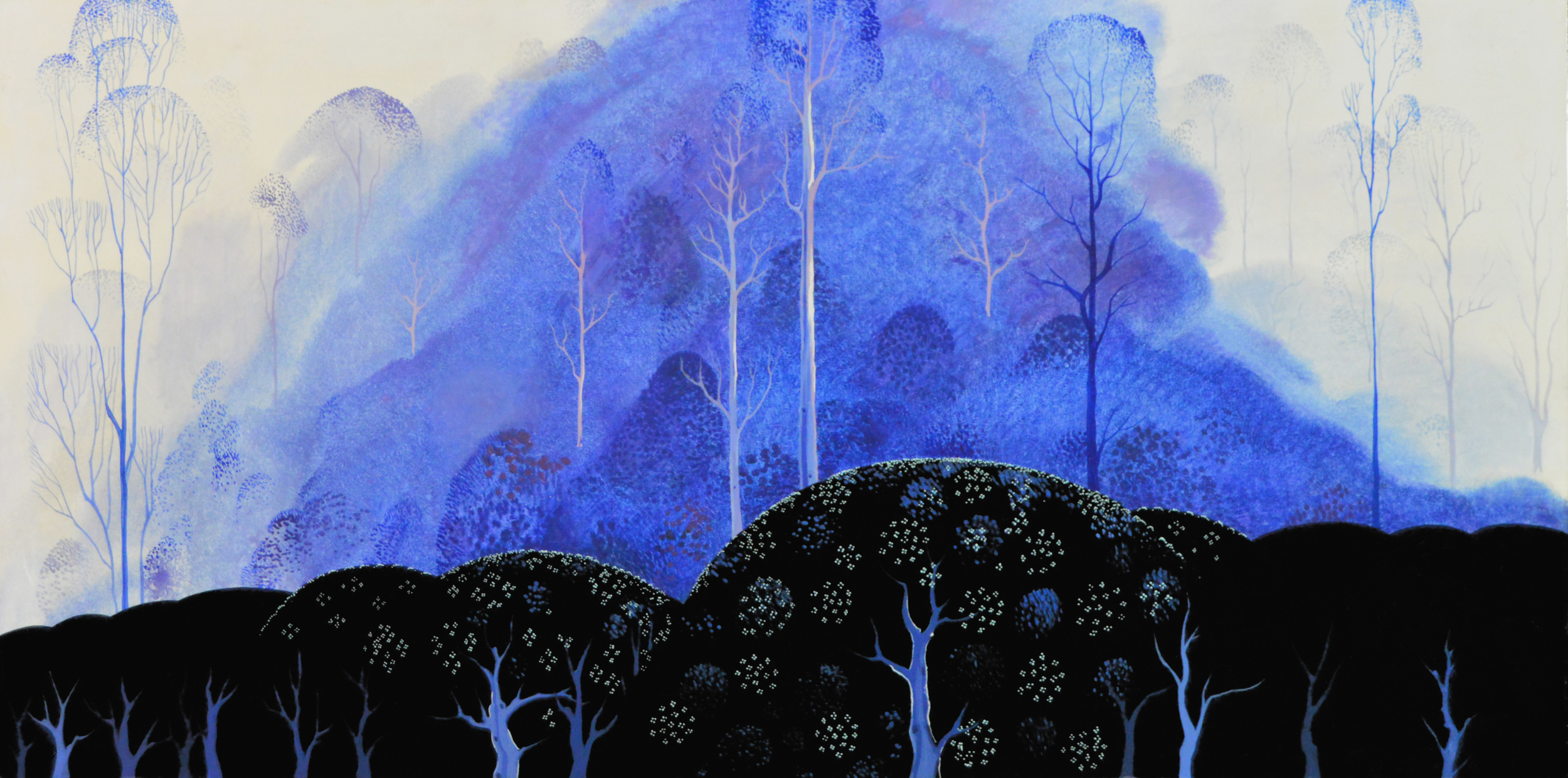PURPLE FOG Eyvind Earle