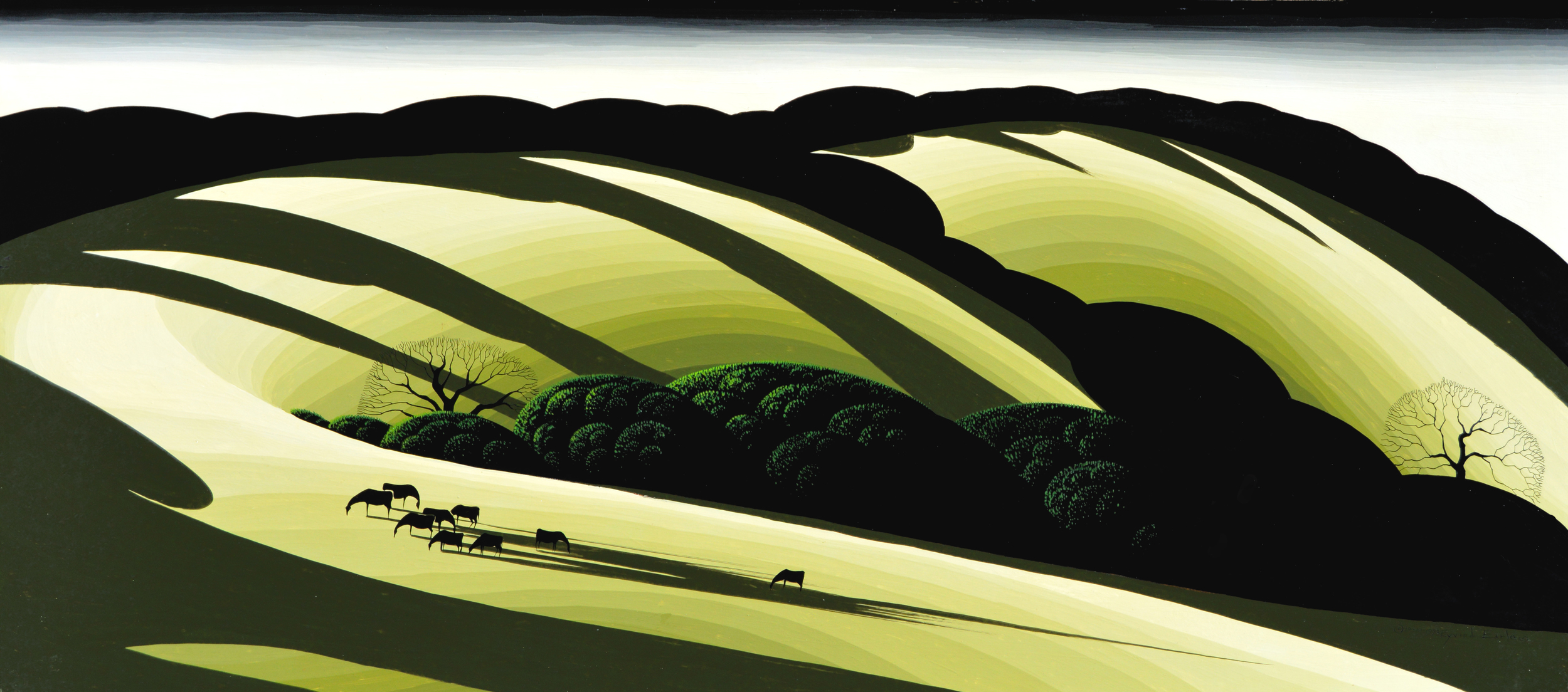 THE SHADOWS DEEPEN Eyvind Earle