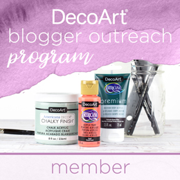 Member of the DecoArt Blogger Outreach Program