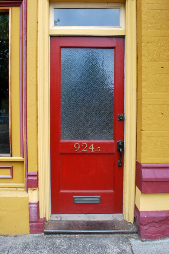 Red door - Snohomish, WA
