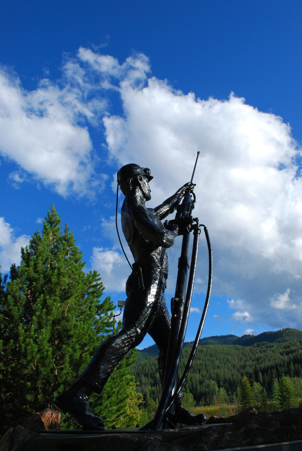 Sunshine Mine Disaster Memorial Statue