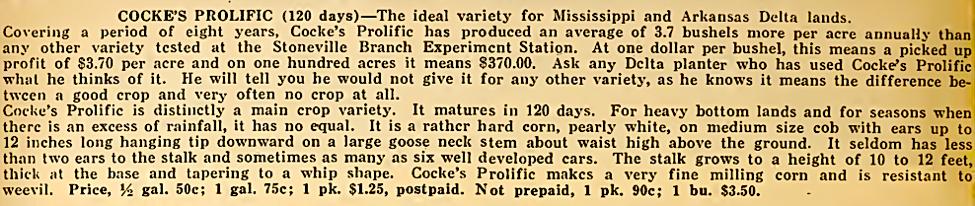 Buchanan's Seeds , Memphis Tennessee 1917, p. 50.