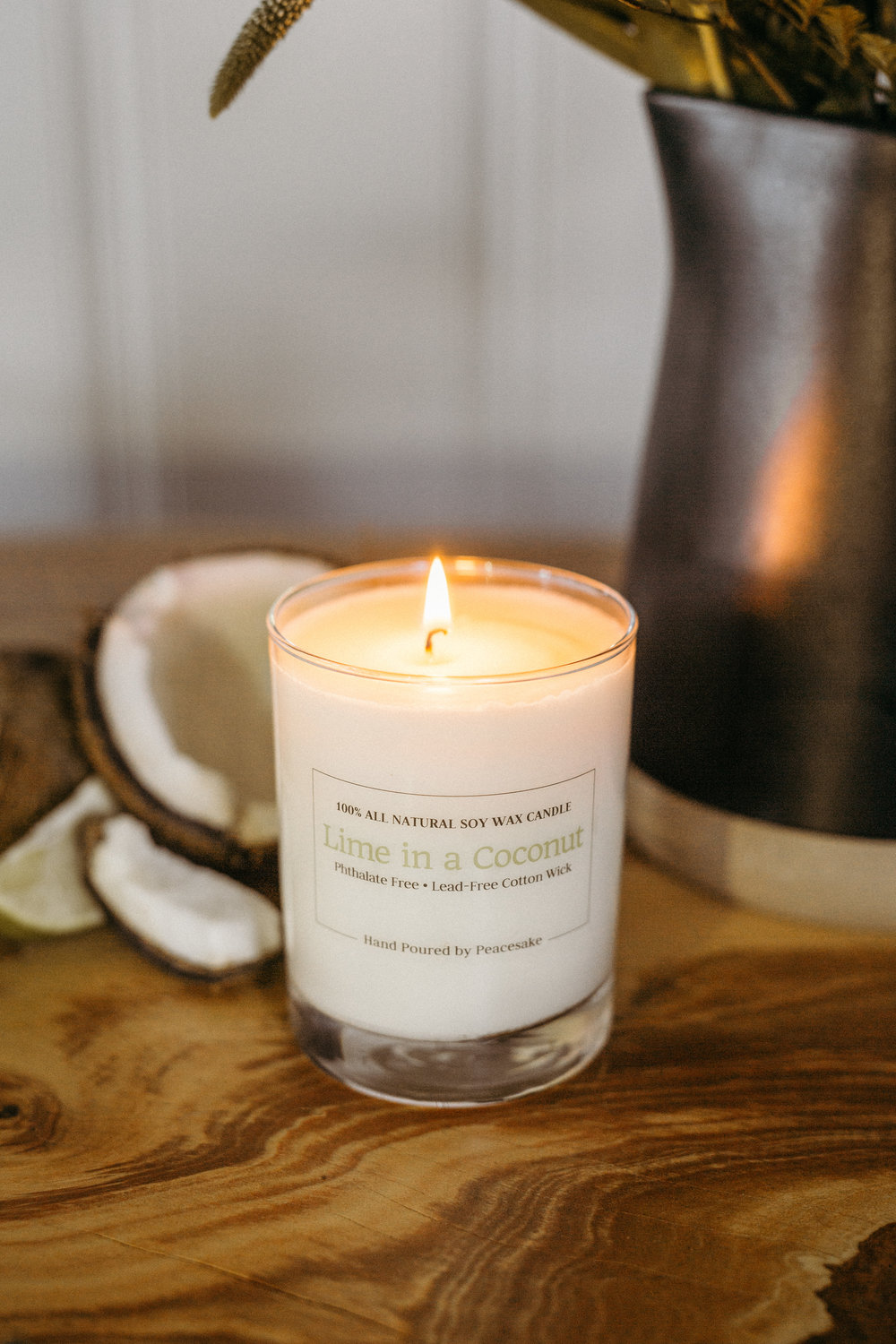 peacesake-all-natural-soy-wax-cotton-wick-vegan-candle-phthalate-free-lime-coconut-beach-summer