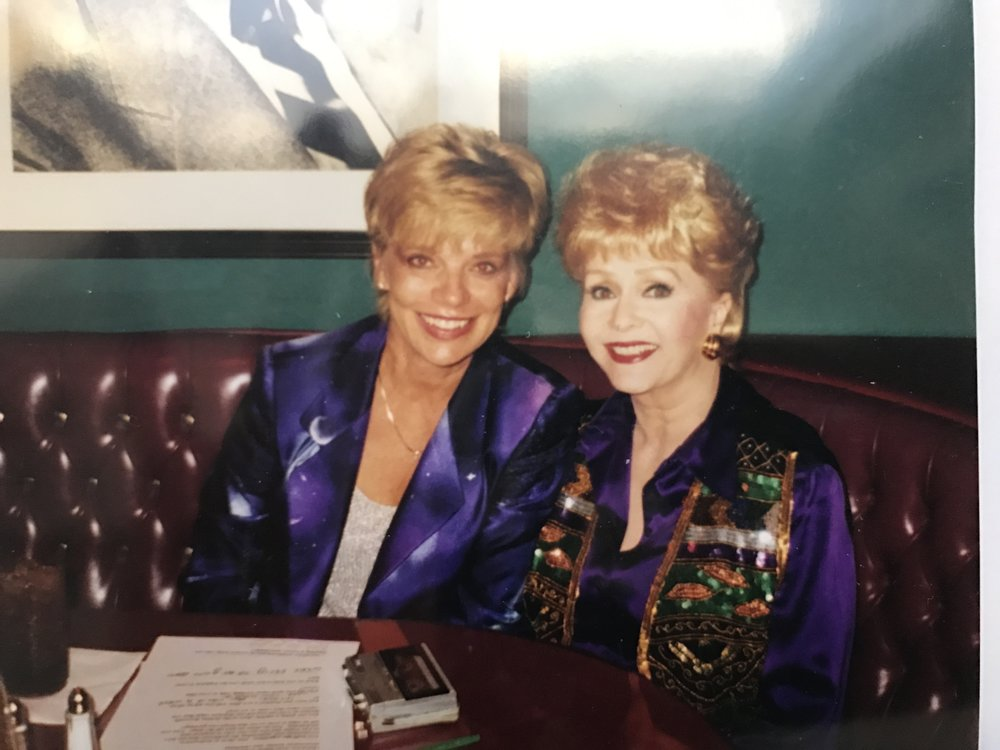 Debbie Reynolds on my radio show at the Debbie Reynolds Theatre in Las Vegas, Nevada.