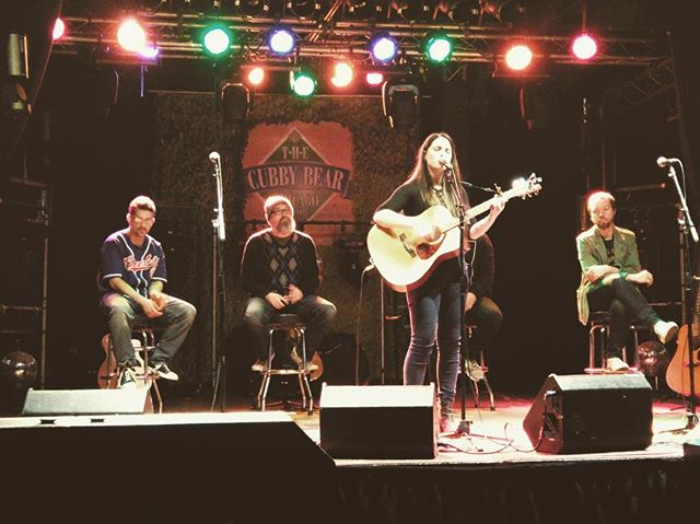 Had a blast playing cubby bear writers round last night :) #chicago #legendarystage #music