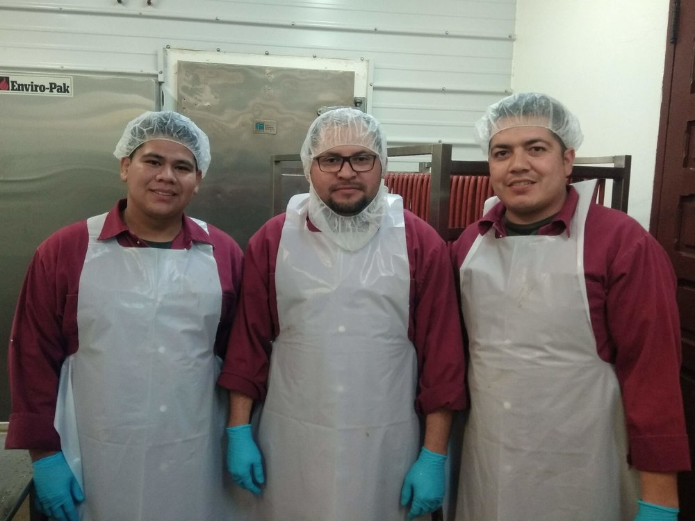 The production team (L to R):  Miguel (employed since 2015), Martin (2018), and Horacio (2011)