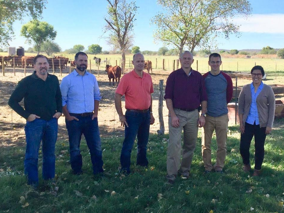 L to R: Lloyd Metzger ( outgoing Bd. Pres.) - Brookings SD,  Jake Leman -  Denver CO,  Jon Blomgren ( Vice Pres.) - Alvord IA,  Jeff Steiner ( Pres.) - Morris MN,  Todd Stoller -  Magdalena MX,  and Pau Aquino -  Magdalena MX.    Absent from photo: Brandi Altstaetter ( Sec'y/Treas.) - Bellefontaine OH.