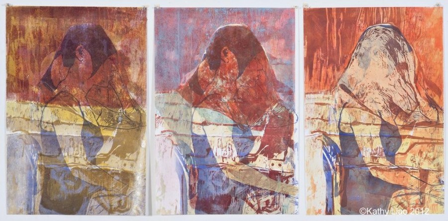 Veiled (series of unique prints)