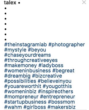 Hashtags @talex