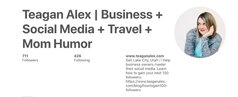 Teagan Alex Pinterest Profile
