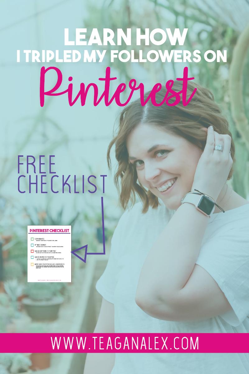 Pinterest Checklist Teagan Alex